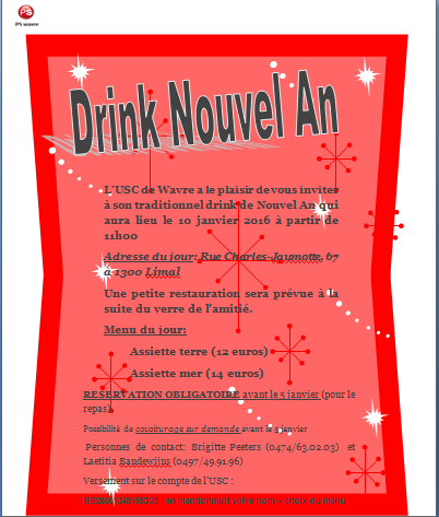 drink nouvel an 2016