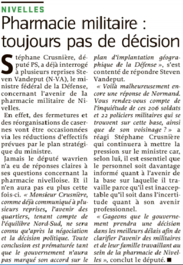 article presse pharma milit