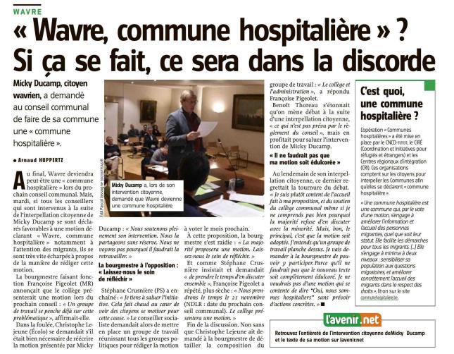 article presse - Wavre