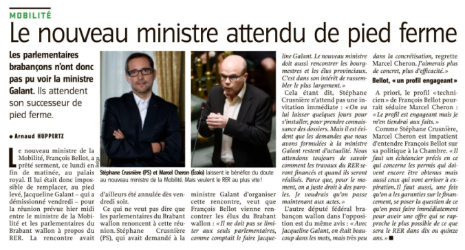 RER BW - nouveau Ministre attendu