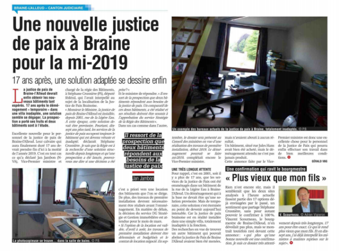 Justice de paix - article 1