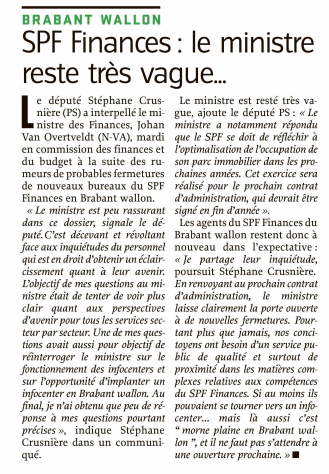 article SPF Finances