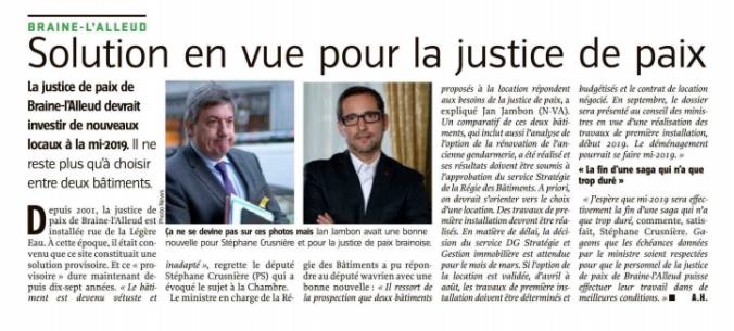 presse - justice de paix