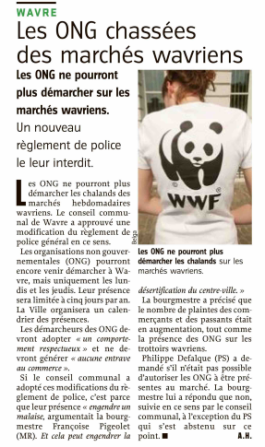 article presse ONG