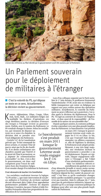 article presse - Défense
